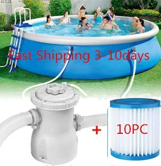 CCTAV Clear Cartridge Filter Pump for Above Ground Pools Pool Filter Fit Electric Swimming Pool Filter Pump for Above Ground Pools Cleaning Tool for...