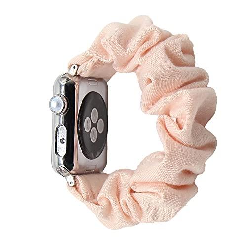 Hspcam Coletero elástico de algodón compatible con Apple Watch Band 5 4 42 mm 38 mm para niñas y mujeres bandas de algodón 40 mm Series 5 4 3 2 1 44 mm 40 mm (38 mm o 40 mm, SWB 51)