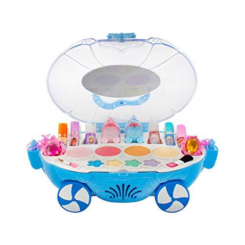Goplas Set de Maquillaje para niñas en Forma Carruaje de Disney Frozen