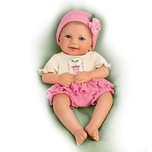 Ashton Drake Realistic Baby Doll, Lil Sprout Baby Doll Girl Looks Like a Real Life Baby, So Truly Real Doll, Certified Premium Grade, Ages 6+