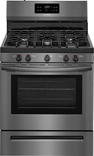 Frigidaire FFGF3054TD 30 Inch Freestanding Gas Range with 5 Sealed Burner Cooktop, 5 cu. ft. Primary Oven Capacity, in…