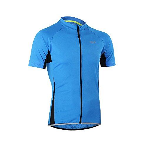 Arsuxeo Herren-Fahrradtrikot, enge Passform, Kurzarm, Fahrrad, MTB-Shirt, Herren, blau, US S - 2