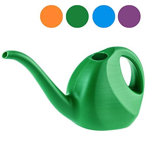 KADAX Gießkanne, 2 Liter, kleine Gartengießkanne aus Kunststoff, Blumengießkanne mit langem Auslauf, für Innen und Außen, Haus, Garten, Blumen, Zimmerpflanzen, Bewässerung (Grün)