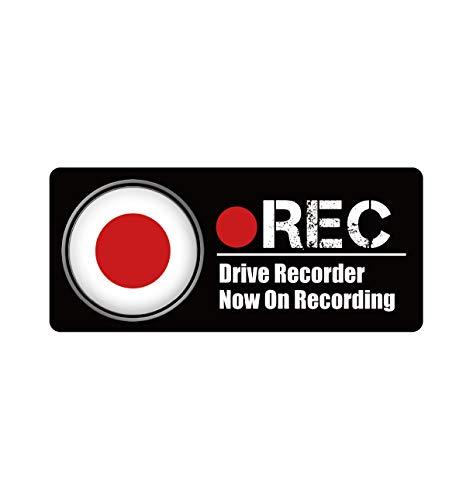 Biijo ドライブレコーダー 防水・耐熱 ステッカー シール ドライブレコーダーシール ドライブレコーダーステッカーあおり運転対策 国旗 (F.日本, 四角(縦75mm×横170mm))
