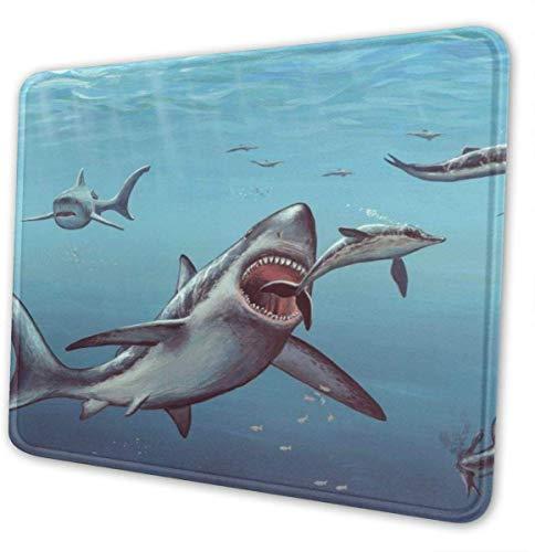 Aquarium Blaue Haie Zähne Themed Büro Gaming Mouse Pad Gamer Computer-Zubehör Kühlen Mat Kleine für Mädchen-Jungen-Kind Frauen Männer Wohnkultur Merchandis Artikel