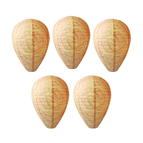 5 Pack Wasp Nest Decoy, Eco-Friendly Natural and Safe Hanging Paper Trap Decoy for Wasps Bee Hornets Yellowjackets, Outdoor Non-Toxic Effective Fake Wasp Nest
