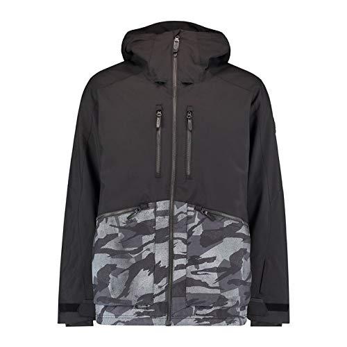 O'NEILL PM Texture Jacket Chaqueta Hombre con Capucha, Black out, S