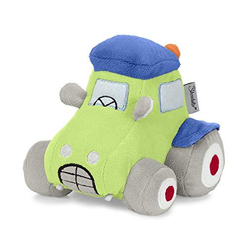 Sterntaler Spielfigur Traktor Wieslinge Tom, Mit Rassel und Knisterpapier, Alter: Für Babys ab der Geburt, 11 cm, Grün