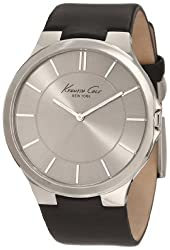 cheap Kenneth Cole New York Men's KC1847 Stainless Steel Black Leather Strap Watch