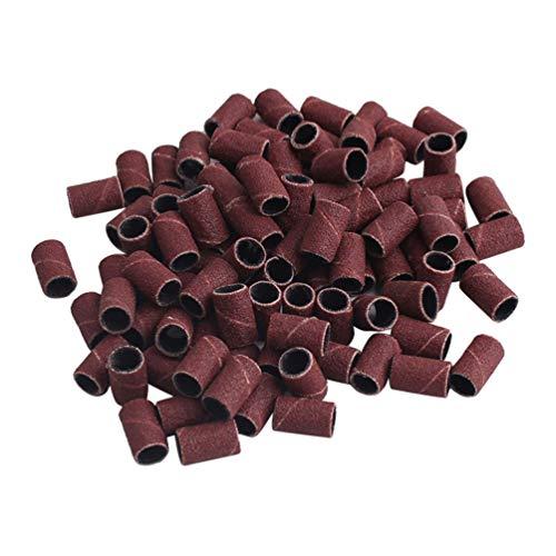 Lurrose - Juego de 200 piezas de lijadora de tambor para uñas (100 piezas para una bolsa 80)