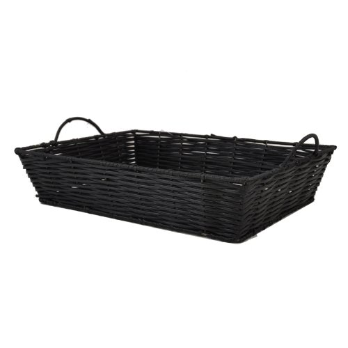 The Lucky Clover Trading Display Tray, Synthetic Wicker Basket, Black
