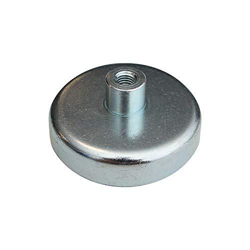 SCHWEISSER KING Flachgreifer mit Gewinde Magnetfuß Oxit Hartferrit div. Größen, Durchmesser:Ø 63 mm