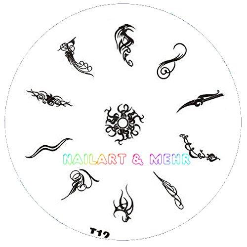 Pochoir de stamping # T 12 Tribals, tatouages, etc.