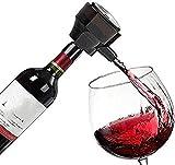 Decantador de vino de cristal hecho a mano, Skull Glass Wine Decanter and Glasses Set Ultrasonon Electronic Antter, Electric Smart Bubbler Aeroator para Vino Tinto, Cerveza, Vino, Aumento de Oxígeno R