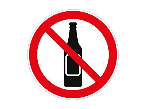 1 x Aufkleber Warnzeichen Alkohol Verboten Bier Whiskey Sticker Warnung Achtung