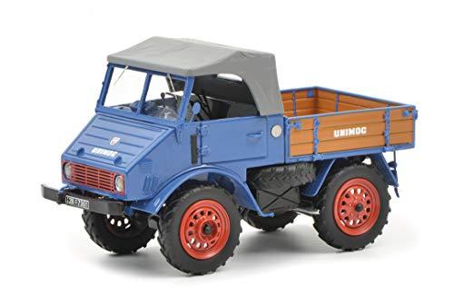 Schuco 450900300 MB, blau 450900300-MB Unimog 401, 1:32, Modellauto, Modellfahrzeug