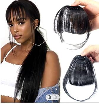 Clip in bangs Air Fringe-HUMAN hair bangs fringe clip in fringe bangs human hair clip in extension hairpiece fringe human hair  1b