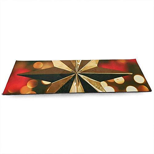 KDU Fashion Fitness Mat, Heldere Kerst Goud Ster Boom Topper Creatieve Nieuwigheid Yoga Fitness Matten Voor Indoor Yoga Oefening