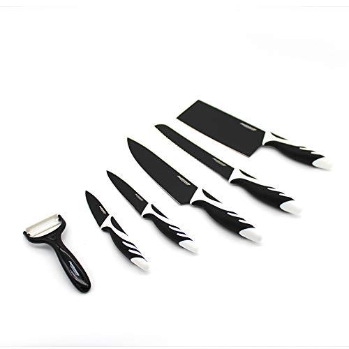 Cuchillos cocina. Juego de cuchillos de cocina. Set cuchillos cocina cerámica. Set 5 uds y pelador. Juego cuchillos cocina en cerámica y mango antideslizante. Cuchillos de cocina. Cuchillo.