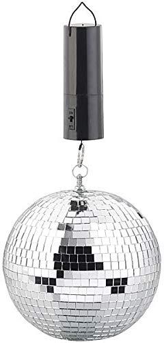 infactory Discokugel Batterie: Selbstdrehende Discokugel zum Aufhängen, Ø 20 cm, Batteriebetrieb (Discokugeln)