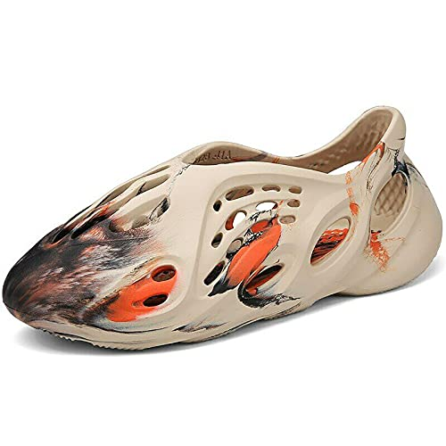 Zapatos De Playa De Verano, Hombres&Mujeres Zapatos De Playa De Verano Ligeros, Corredor De Espuma Sandalias Antideslizantes Casuales, Zapatillas De Verano Casuales Sandalia CóModa(Caqui camuflaje,39)