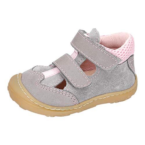 RICOSTA Kinder Low-Top Sneaker EBI von Pepino, Weite: Mittel (WMS), Kinder Kids Maedchen Kinderschuhe toben Spielen,Graphit/Rose,25 EU / 7.5 Child UK
