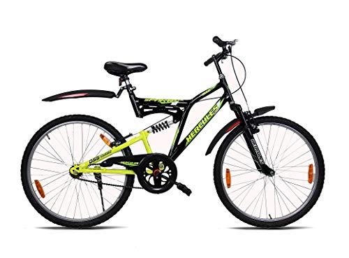 Hercules Sparta ZX 26T Bicycle (Black/Acid Green)