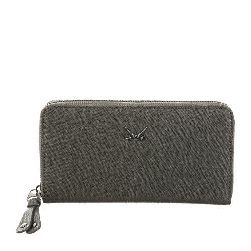 Sansibar Wallet L - Saffiano Geldbörse, Damen, 19,5x2,5x10,5, Anthracite, SB-LP3504-026