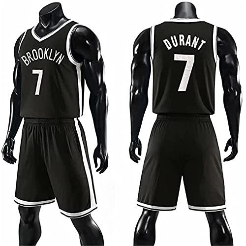 XFKL Camiseta De Baloncesto NBA Redes # 11#7 Transpirable Resistente Al Desgaste Bordó La Camiseta,Chaleco Deportivo Réplica De Jugador De Baloncesto,para Jóvenes Sudadera,Black # 7,L