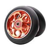 Z-FIRST 2Pcs 110mm Pro Scooter Wheels with ABEC 9 Bearings Fit for MGP/Razor/Lucky Envy/Vokul Pro Scooters Replacement Wheels (Grapefruit Color)