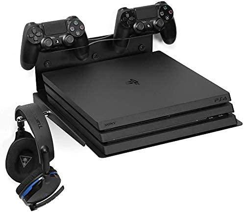 Borangame Soporte de Pared para PlayStation 4 PS4 (Normal/Pro/Slim), PlayStation 5 PS5 (todos los modelos) y XBOX (One/One S/One X), Base Horizontal,...