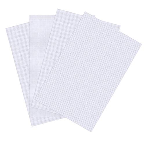 BS 4 Pieces 14 Count Classic Reserve Aida Cloth Cross Stitch Cloth, White, 12 by 18-Inch