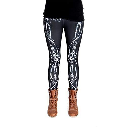 cosey - Bedruckte Bunte Halloween Leggins (Einheitsgröße) - Leggings Design Knochen