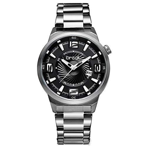 BREAK Orologio da uomo con calendario luminoso analogico al quarzo impermeabile moda casual sport orologio da polso creativo vestito orologio
