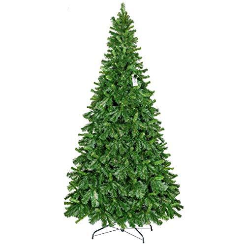 FairyTrees Weihnachtsbaum künstlich, Kiefer Tirol aus PVC, Metallständer, 220cm, FT22-220