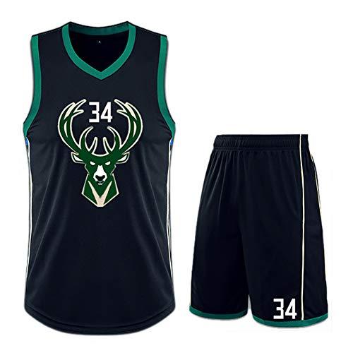 Camiseta de baloncesto de Bucks 34 Giannis Antetokounmpo, camiseta de baloncesto para niños y adultos.
