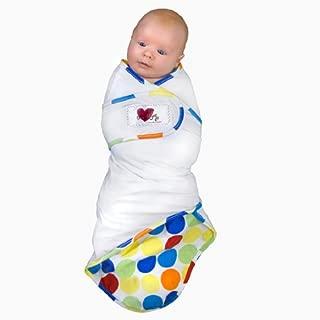 Go Mama Go Designs Snug and Tug Swaddling Blanket, Small, Rainbow Love