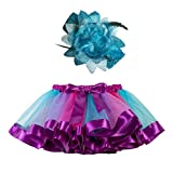 Falda del Tutu para Niña,SHOBDW Niños Regalo De Cumpleaños Fiesta De Tutú Baile Ballet Falda Bebé Niño Pequeño Fiesta De Disfraces Falda de Baile + Diadema Conjunto 2PCS(Azul,2-4 Años)