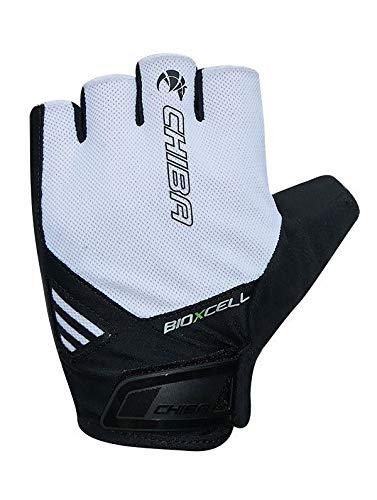 Chiba BioXCell Air Fahrrad Handschuhe kurz weiß/schwarz 2020: Größe: XL (10)