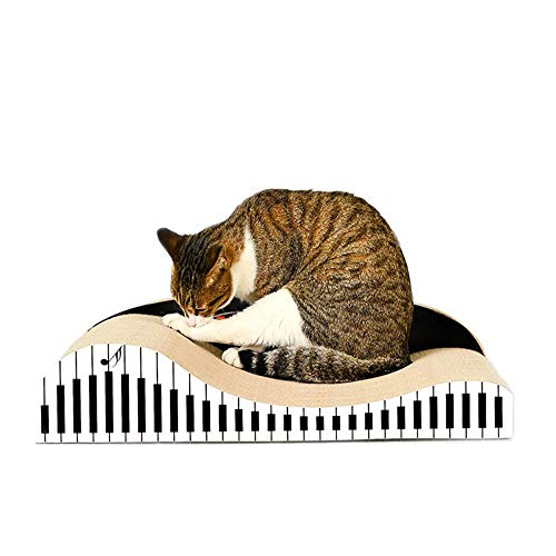 YSYDE Piano katt skrapbräda, korrugerat papper med hög densitet, säkert och miljövänligt, ingen lukt utrymmesbesparande, kan skydda dina möbler, för husdjur det bästa valet