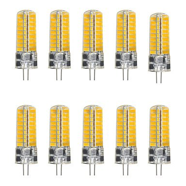 WELSUN 5w g4 LED bi-Broches lumières t 72 SMD 5730 500-600 LM Blanc Chaud Blanc Froid AC12V 10Pcs (Connector : G4, Light Source Color : Blanc Froid)