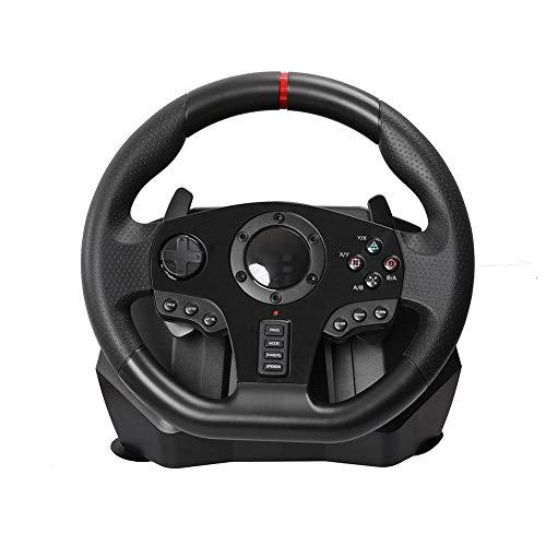 yingmu Volant De Course De Jeu, Volant De Course, Volant Réglable V900 avec Pédale pour Nintendo Switch PC / PS3 / 4 / Xbox One, Simulateur De Stand pour Les Jeux