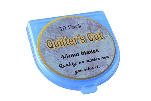 Quilter's Cut 45mm Rotary Blades, 10 Pack, Fits Olfa, Fiskar, Martelli, Truecut
