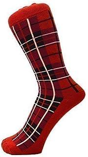 New Men Ankle Red Checked Tartan Socks