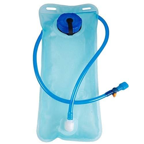 Vejiga de hidratación, bolsa de almacenamiento de agua de 2 l, sin BPA, depósito de agua a prueba de fugas, bolsa de almacenamiento para ciclismo, senderismo, camping, ciclismo, correr