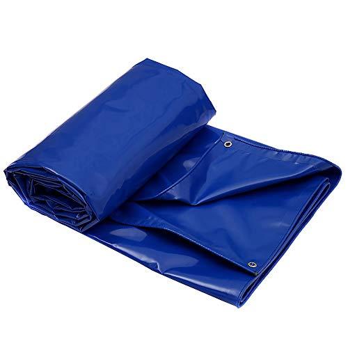 LXLIGHTS Bache Impermeable Auvent De Bâche, Imperméable Bâche De Camion De Linoléum, Camping en Plein Air/Jardinage, Polyester Epaisseur 0.6MM 650g \ M2 (Couleur : Bleu, Taille : 400 * 300cm)