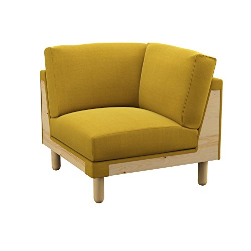 Soferia Bezug fur IKEA NORSBORG Eckelementbezug, Stoff Elegance Dark Yellow