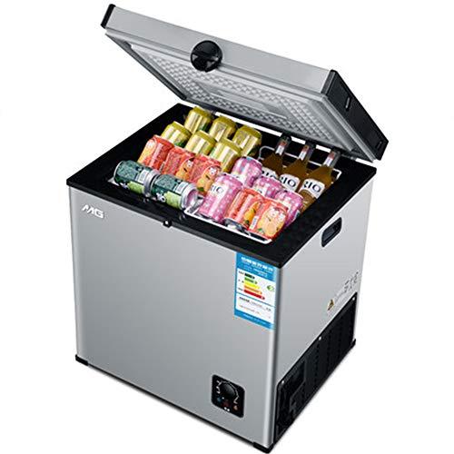 DBG Kleiner Kühlschrank 55L Gefrierschrank Mini Einfrieren Haushalt Gefrierschrank für Gewerbe Horizontal Tiefkühltruhe Elektro Mini Kühl-Gefrierkombination für Zuhause