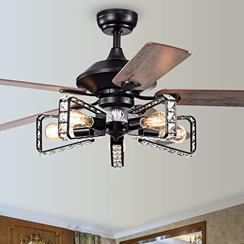 52 In Ceiling Fans with Lights Remote Control
