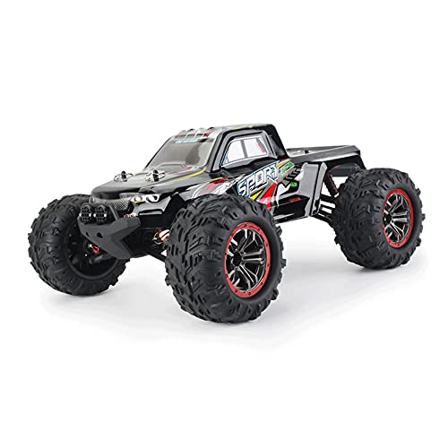 KGUANG Adult Boy Monster Competition RC Car Full Scale 1:10 50km / h Brushed 4WD Bigfoot 2.4G Buggy de Control Remoto Inalámbrico Modelo Infantil Vehículo de Carrera Regalo de cumpleaños Camión